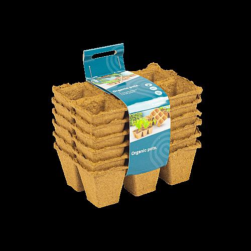 SOGO organic pots (6x) 4x4cm 3x2 vakken
