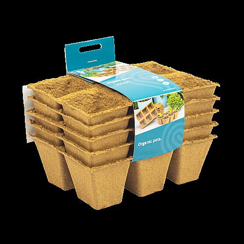 SOGO organic pots (5x) 6x6cm 3x2 vakken