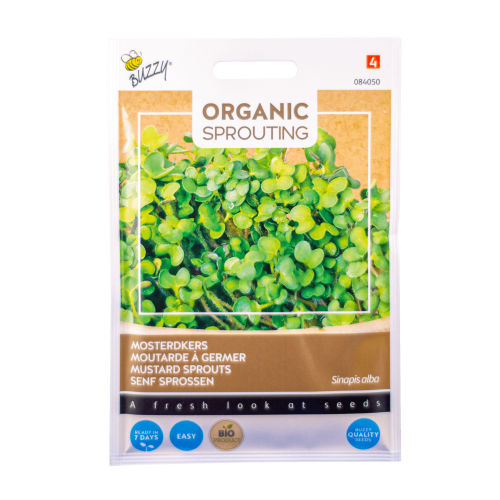 Mosterdkers (Sinapis alba) Buzzy Organic Sprouting BIO