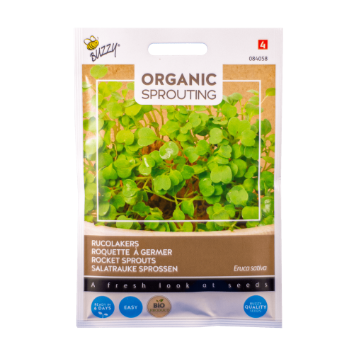 Rucolakers (Eruca sativa) Buzzy Organic Sprouting BIO